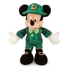 Mickey Mouse Plush - St. Patrick's Day - 9''