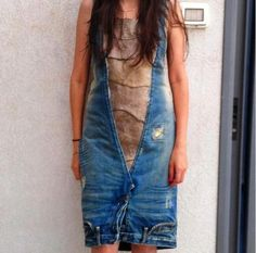 Another take on the Upside down jeans dress.
