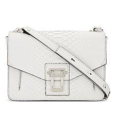 PROENZA SCHOULER Hava Matte Python-Skin Cross-Body Bag. #proenzaschouler #bags #shoulder bags #