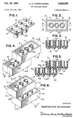 cool patent for Legos
