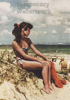 German pinup girl on the beach