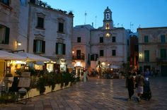 Piazza by night, Polignano a Mare, Italy