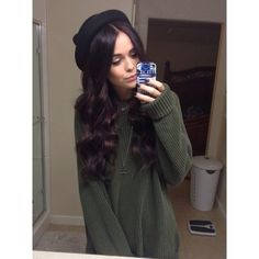 Sweater: hat acacia brinley acacia brinley long hair cover for iphone... ❤ liked on Polyvore