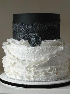 Wedding cake black and white - black and white weddingcake