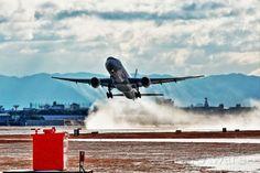 Japan Airlines Boeing 777-346 (JA8944) takeoff from ITM/RJOO (Osaka - Itami Airport in Japan) on runway 32L.