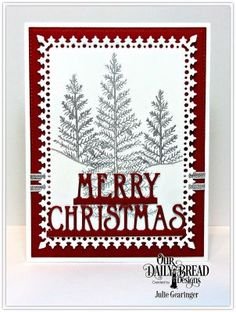 Our Daily Bread Designs Stamp Set: Joys of the Season, Our Daily Bread Designs Custom Dies: Merry Christmas Border,  Lavish Layers,  Pierced Rectangles