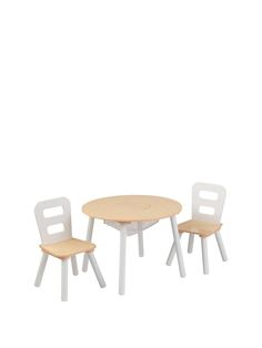Kidkraft Round Table & Chair Set - Natural | very.co.uk