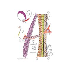 Instant Digital Download Love Lines Letter A for by LoveLinePrints, $5.00