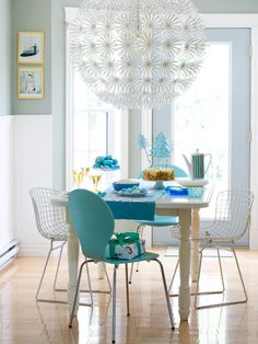 Part big snowball, part arty snowflake, this paper lamp, $39.99, IKEA, turns the kitchen into a winter wonderland. #holidays #decor #Christmas