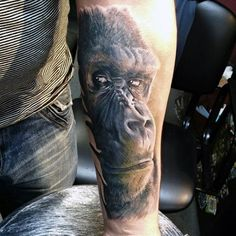 Inner Forearm Guys Gorilla Tattoos