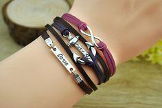 Fashion cuff braceletsilvery alloy anchor & love by Richardwu, $6.50