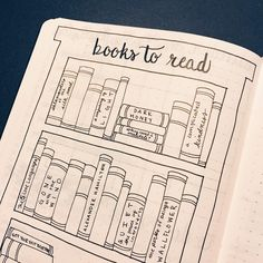 Books to read bullet journal page