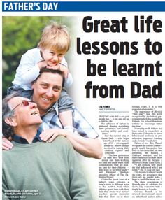 The Fathering Project was featured in the Daily Telegraph, read on to discover the life lessons that only Dads can teach.   thefatheringproject.org