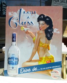 Collection of Beer and Liquor Signs