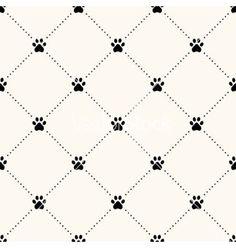 Seamless Animal Pattern Of Paw Footprint Vector Dog By Svetolk On VectorStockR