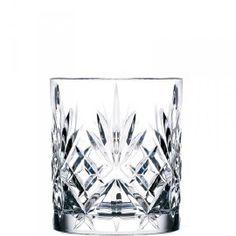 Double Old Fashioned glas met geslepen detail voor water of whisky  Hoogte 9,4 / Top 8,2 cm 310 ml