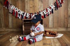 history-of-baseball. From general topics to more of what you would expect to find here, history-of-baseball. Baseball First Birthday, Boys First Birthday Party Ideas, 1st Birthday Pictures, Baby Boy 1st Birthday, Boy Birthday Parties, Birthday Cakes, Cool Diy, 6 Month Baby Picture Ideas, 1st Birthday Photoshoot