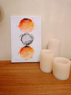 Handmade Abstract Circular Painting by ChloeLouiseCreates on Etsy