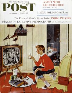 Saturday Evening Post cover, January 1958