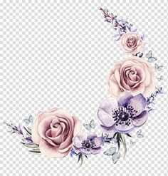 Flower Circle, Flower Frame, Flower Crown, Flower Bouquet Png, Christmas Wreath Illustration, Watercolor Flower Wreath, Beautiful Flower Drawings, Circle Drawing, Image Transparent
