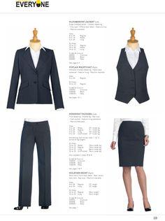 Bloomsbury Jacket, Poplar Waistcoat, Finsbury Trouser and Holborn Skirt. #workuniformsdirect #uniform #corporate #business #fashion