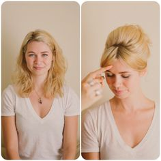 Learn how to do a fabulous '60s updo in this blogger tutorial. | The Man From U.N.C.L.E.