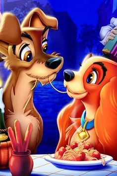 kiss, lady and the tramp spaghetti style.