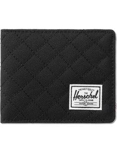 d8e92fb33d6 Herschel Supply Co. - Black Quilted Hank Wallet