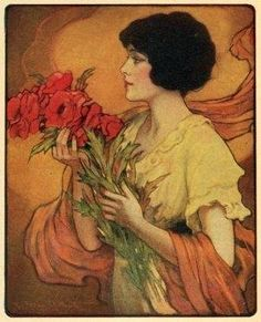 Julia - frontispiece of a 1922 New York publication of Gentle Julia by Booth Tarkington