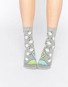 ASOS Valentines Kissing Dinosaur Ankle Socks