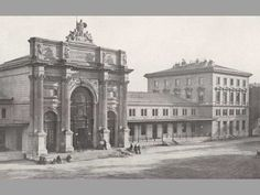 Severozápadní nádraží1876 Prague Guide, Heart Of Europe, Czech Republic, Places To Travel, Taj Mahal, Louvre, Building, Historia, Destinations