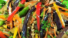 Here is all what Ellina Bokov collected on Postila Veggie Recipes, Cooking Recipes, Medvedeva, Russian Recipes, Seaweed Salad, Japchae, Stir Fry, Green Beans, Fries