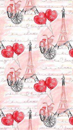 Muito linda Wallpaper World, Paris Wallpaper, Fashion Wallpaper, Heart Wallpaper, Love Wallpaper, Cellphone Wallpaper, Pattern Wallpaper, Wallpaper Backgrounds, Iphone Wallpaper