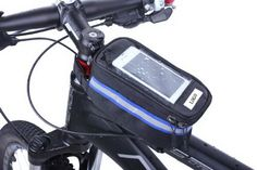 Qualified bike saddle bags hangs over a bike's top tube that will keep cell phones, cameras, snacks and keys safe. An excellent gift for sport lovers.