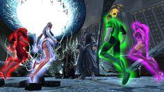 Nekron faces the Lantern Corps