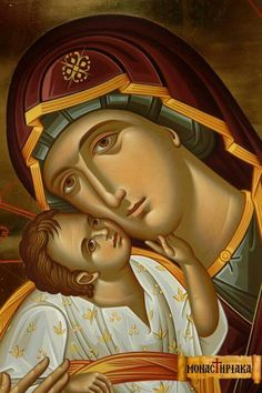 Mater et Filius Byzantine Icons, Byzantine Art, Religious Icons, Religious Art, Garden Mural, Madonna And Child, Blessed Virgin Mary, Orthodox Icons, Blessed Mother