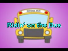 "My educational song, ""Ridin' On the Bus"" is a fun upbeat twist on the popular children's classic song, ""Wheels on the Bus. School Songs, School Videos, Music School, Music Class, Transition Songs For Preschool, Preschool Transitions, Preschool Transportation, Transportation Theme, Preschool Music"