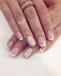 Semi-permanent varnish, false nails, patches: which manicure to choose? - My Nails Cute Nails, Pretty Nails, My Nails, Bride Nails, Wedding Nails, Rose Gold Nails, Glitter Nails, Classic Nails, French Nail Art