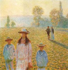 Artify Collections - Landscape with Figures,Giverny 1888 By Claude Monet, $121.73 (http://artifycollections.com/landscape-with-figures-giverny-1888-by-claude-monet/)