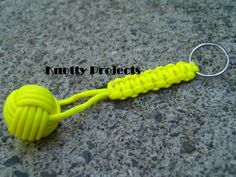 Paracord monkey fist keychains by knottyprojects on Etsy