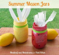 Check out these 10 Summer Mason Jar Craft Ideas for fun ideas for what to do with your Mason jars this summer!
