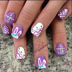 17 Beauty Nail Art Design For Easter – Best New Simple Home Manicure Idea - Bored Fast Food (17)