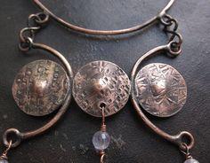 Bohemian Necklace Copper Necklace Boho Necklace by MaryBulanova