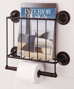Take a look at this Bronze Estate Magazine Rack by Organize It All on #zulily today!