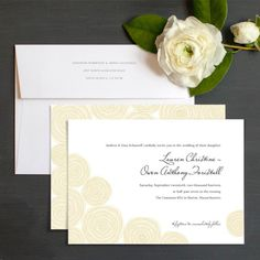 Tulle Roses Wedding Invitations by Ringleader Paper Co. | Elli