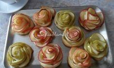 "Bandelės su obuoliais ""Rožytės"" Apple Roses, Delicious Deserts, Food To Make, Desserts, Recipes, Deserts, Food Recipes, Rezepte, Dessert"