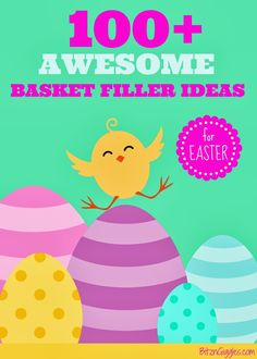 100+ Awesome Easter Basket Filler Ideas - Many of the items in the list link to actual examples from Amazon.com. Soooo much fun! {BitznGiggles.com}