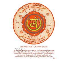 Sacral Chakra, Chakras, Energie Positive, Mandala, Art Therapy, Reiki, Affirmations, Healing, Inspirational Quotes