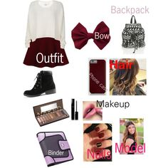 This is a great back to school outfit that I created. It's perfect if you want to look cute and girly but still not too over the top! I hope you like it! ~LLT