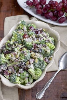We've been trying to cut dairy out of our diet so I'm trying to re-create all of our favorite dishes with our favorite dairy-free option ---> cashew cream!    Cashew cream sauce makes this broccoli salad SO creamy and delicious! Dare I say even BETTER than the original!   It's naturally vegetarian but can be made vegan by using bee-free honey!